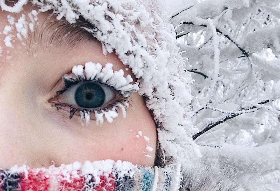Новое зимнее фото девушки уже «лайкнули» более десяти тысяч человек.