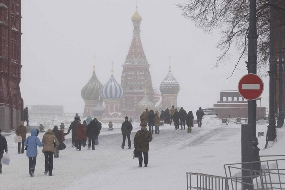 В субботу, 26 января, в Москве ожидается снегопад