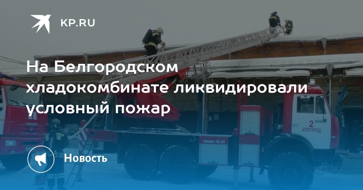 50d704834e82 На Белгородском хладокомбинате ликвидировали условный пожар