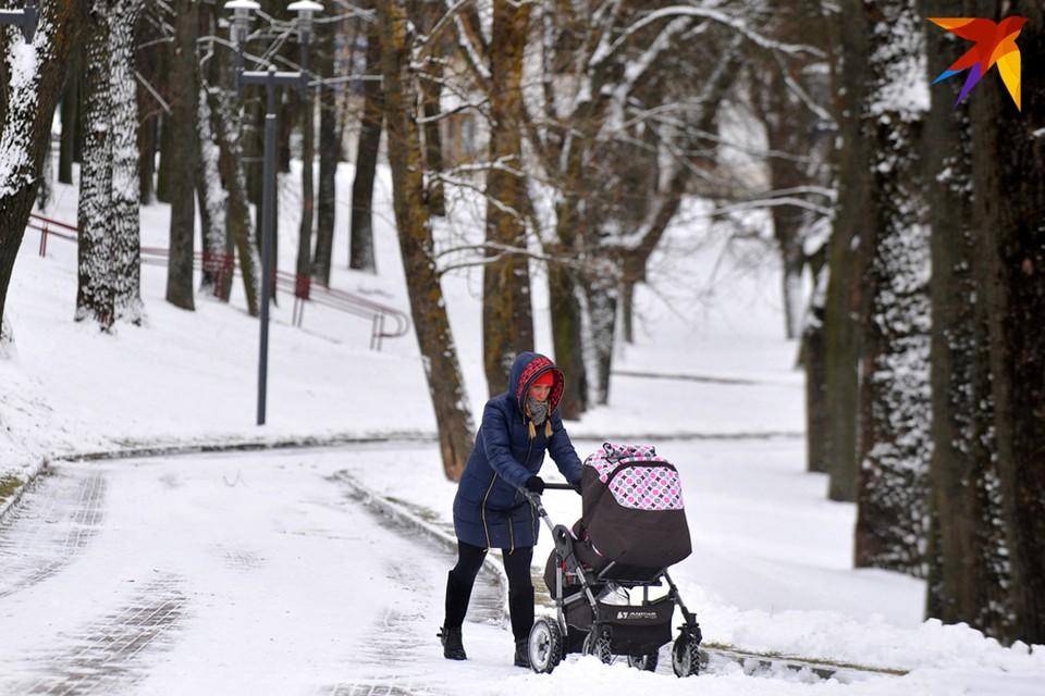 В Беларуси ожидается мокрый снег и плюсовая температура