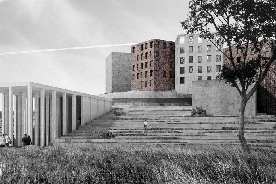 Проект музейно-выставочного комплекса на Смольной набережной заморозили. Фото: Архитектурное бюро «Студия 44»