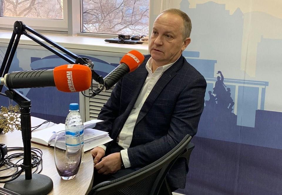 И.о. мэра Владивостока Олег Гуменюк - в эфире радио «Комсомольская правда»-Приморье»