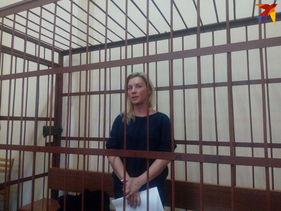Елена Салеева в зале суда