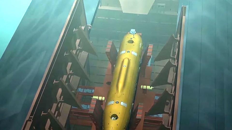 """Подводный беспилотный аппарат с ядерной силовой установкой """"Посейдон"""""""