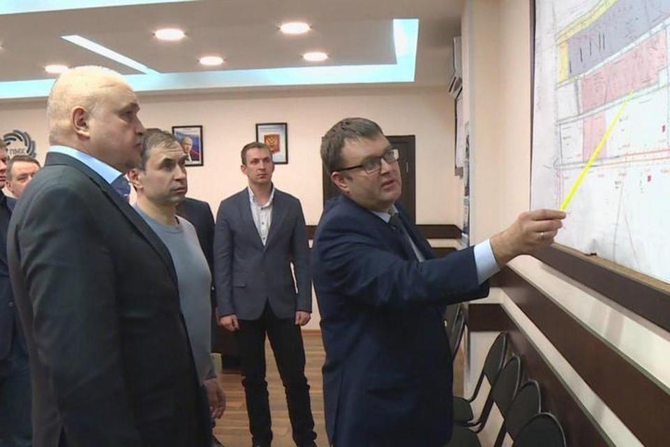 Сергей Цивилев провел совещание на шахте имени Тихова. Фото: АКО