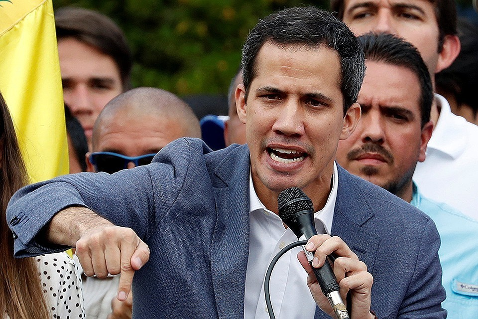 Самопровозглашенный «временный президент» Венесуэлы Хуан Гуаидо