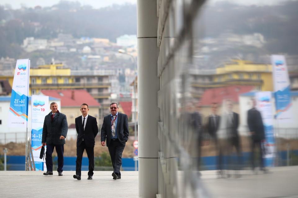 На Российском инвестиционном форуме в Главном медиацентре Олимпийского парка. Фото Михаил Терещенко/фотохост-агентство ТАСС