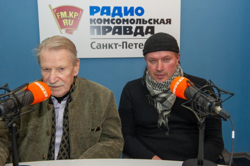 Иван Краско и Игорь Дункул в студии радио «Комсомольская Правда в Петербурге»