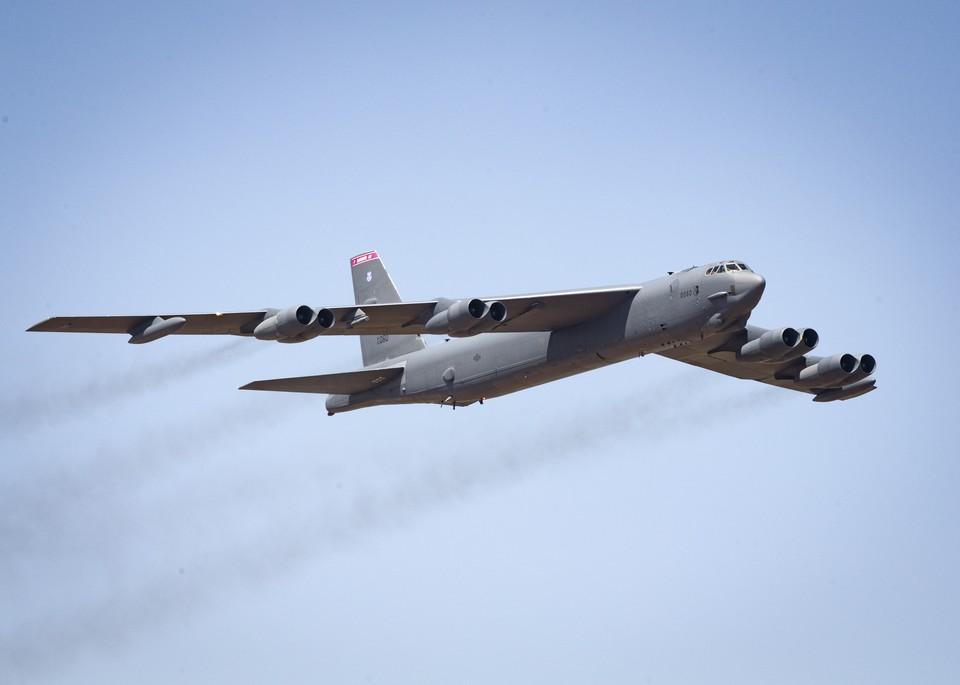 Стратегический бомбардировщик ВВС США B-52H Stratofortress