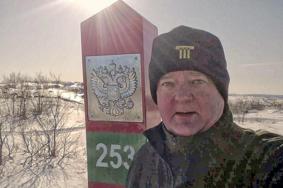 Норвежец Фруде Берг на российской границе, фото из личной странички в соцсетях.