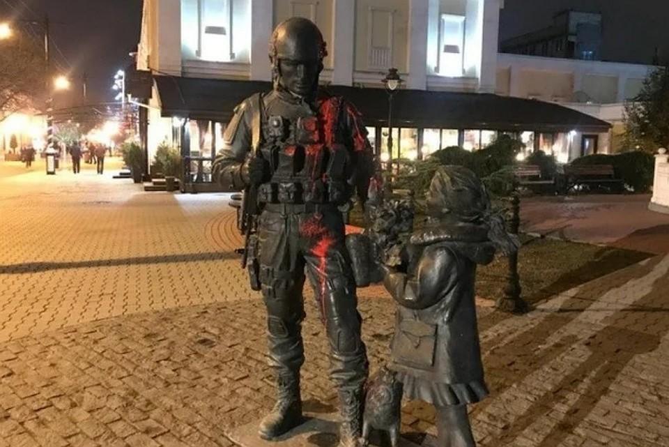 """Вандала задержали вечером 27 января. Фото: """"Вести Крым"""""""