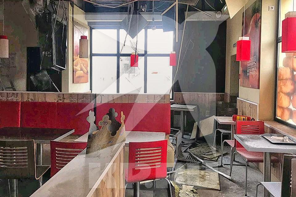 """В Балашихе произошло возгорание в ресторане """"Бургер Кинг"""". Фото предоставлено КП очевидцем"""