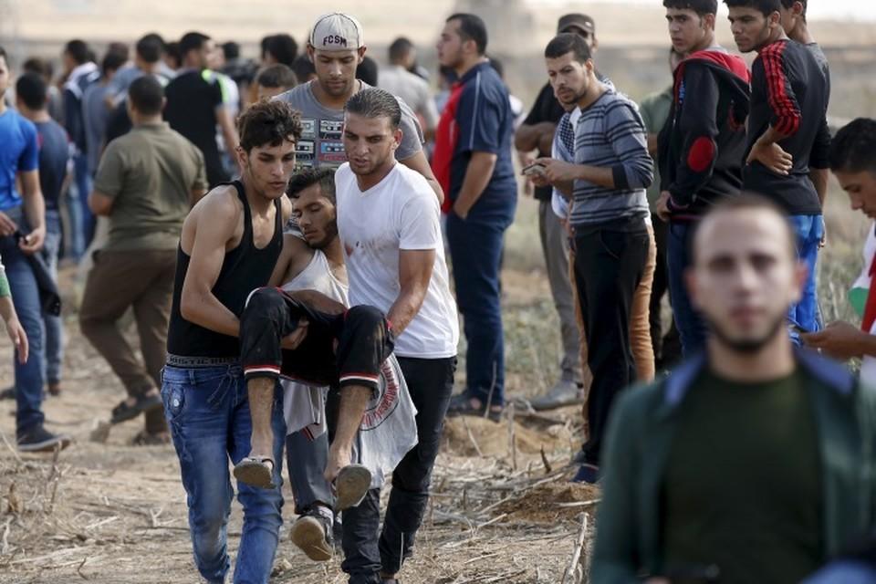 На границе сектора Газа с Израилем собрались порядка 40 тысяч палестинцев