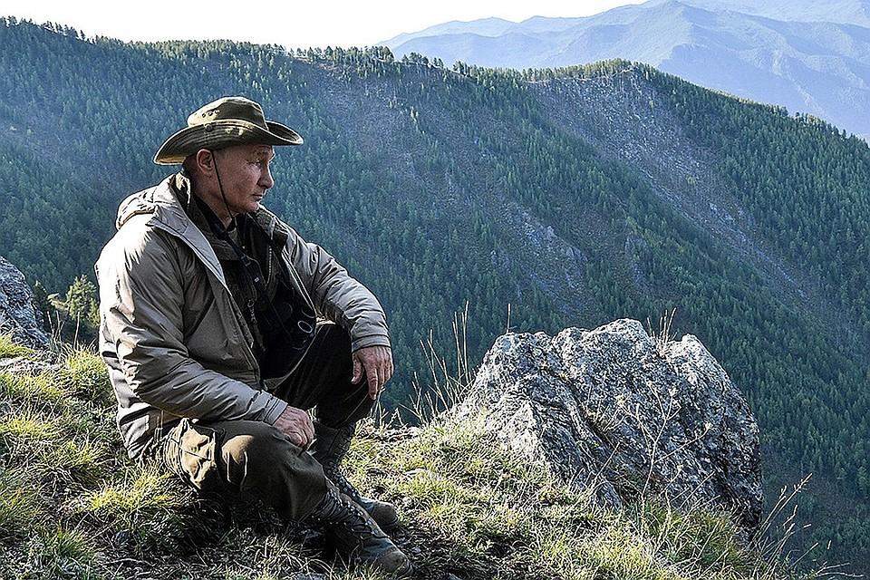 Путин на отдыхе в Тыве. ФОТО Алексей Никольский пресс-служба президента РФ ТАСС