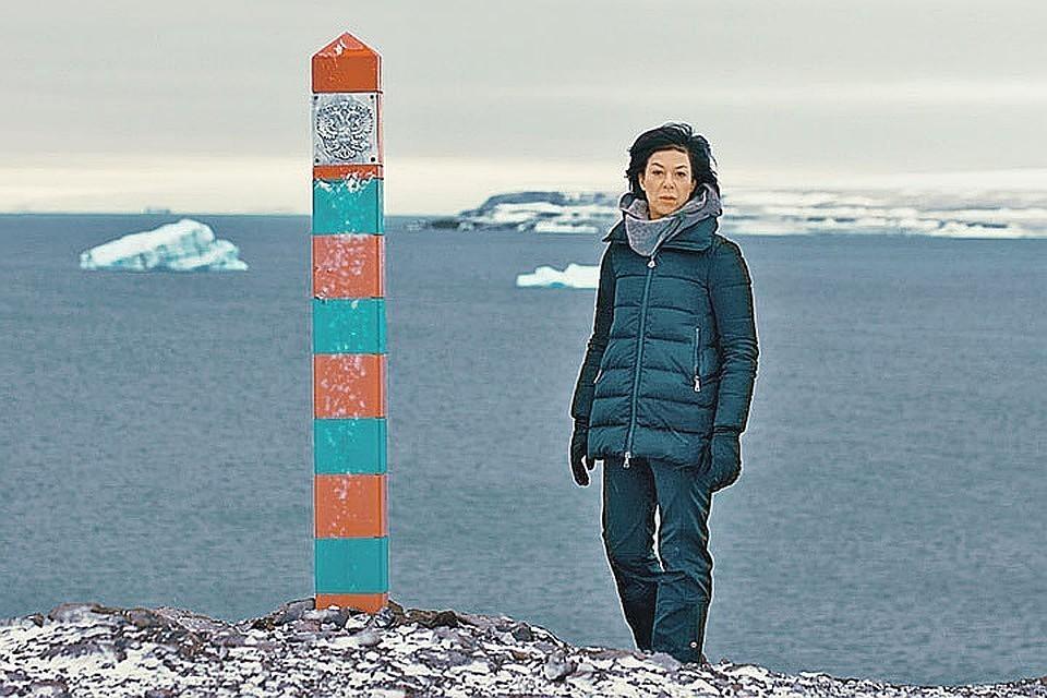 Елизавета Листова дошла до самой северной границы России. Фото: Канал НТВ