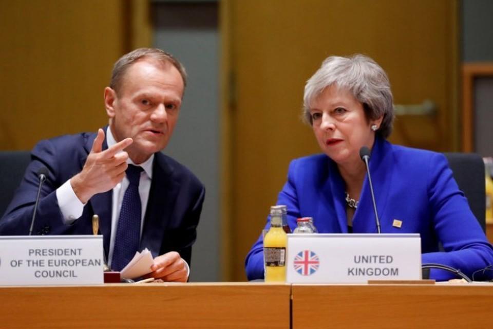 Глава Европейского совета Дональд Туск и британский премьер Тереза Мэй