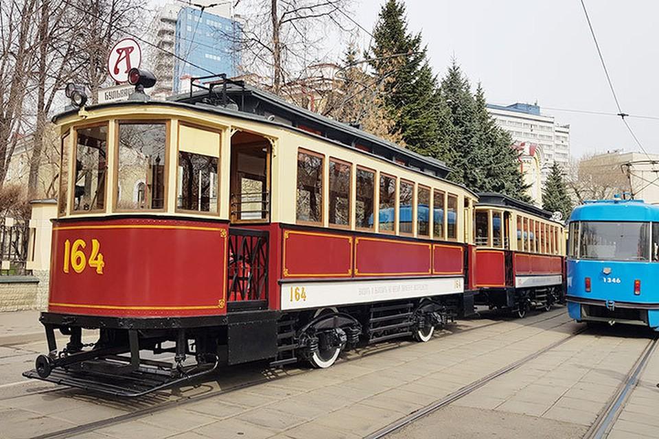 В Москве прошел VI ежегодный ретро-парад трамваев
