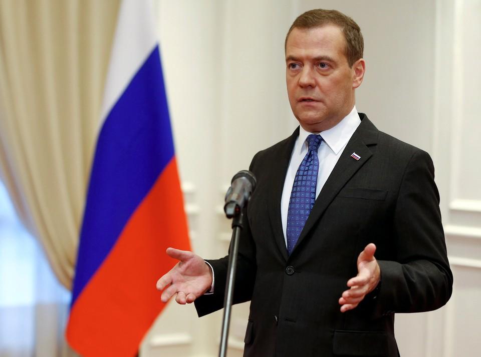 Российский премьер Дмитрий Медведев
