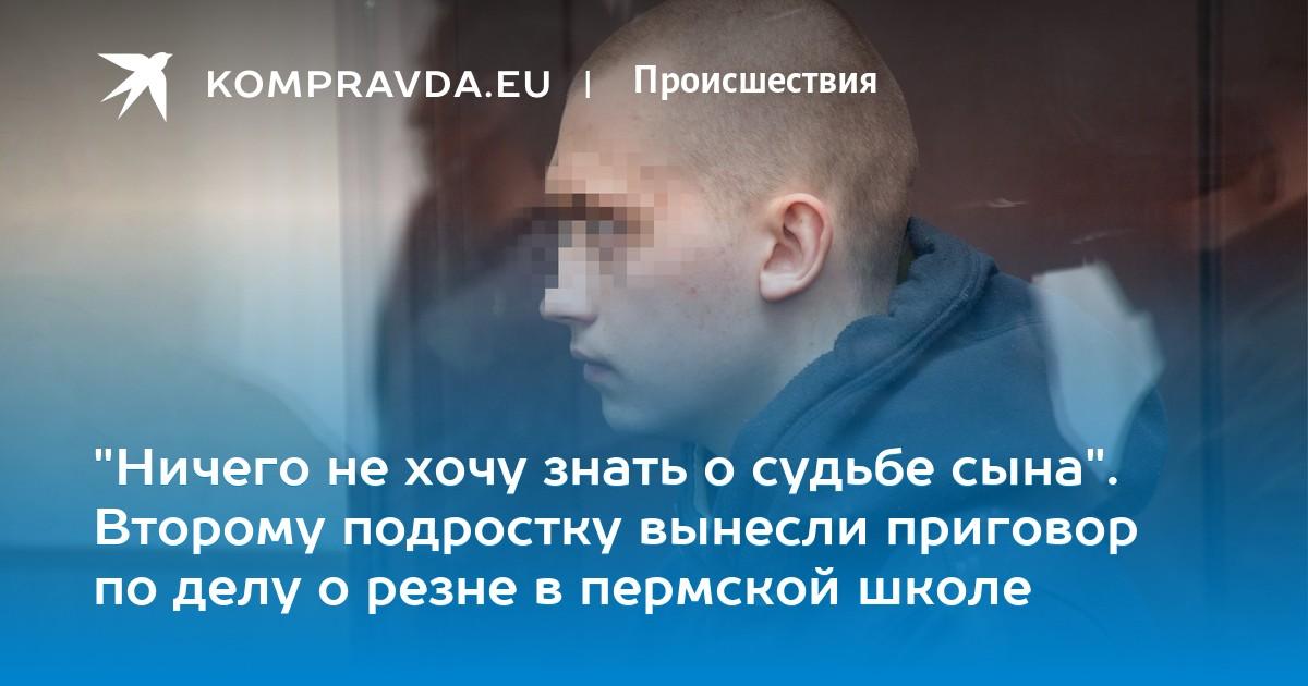 26a7736822973 Второму подростку вынесли приговор по делу о резне в пермской школе