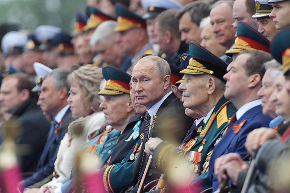 Путин поздравил граждан России с Днем Победы