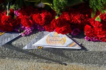 «Всех увезли на Пискаревку...»: Блокадники и ветераны поклонились погибшим родным на Пискаревском кладбище