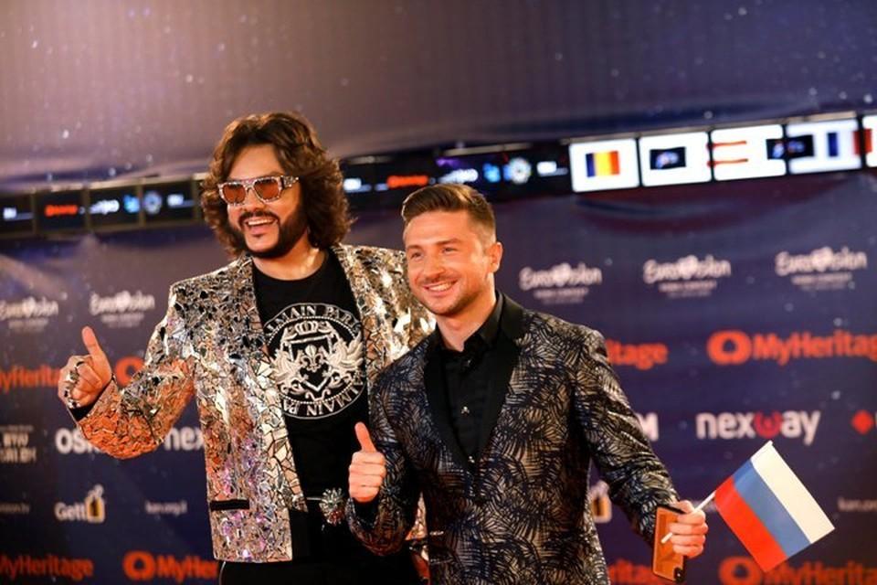 Филипп Киркоров и Сергей Лазарев на «Евровидении – 2019»
