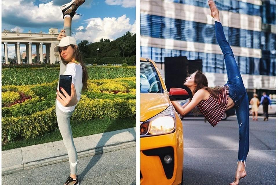 По числу шпагатов в своем инстаграм гимнастка уже составила конкуренцию Анастасии Волочковой. Фото: Инстаграм Ульяны Донсковой.