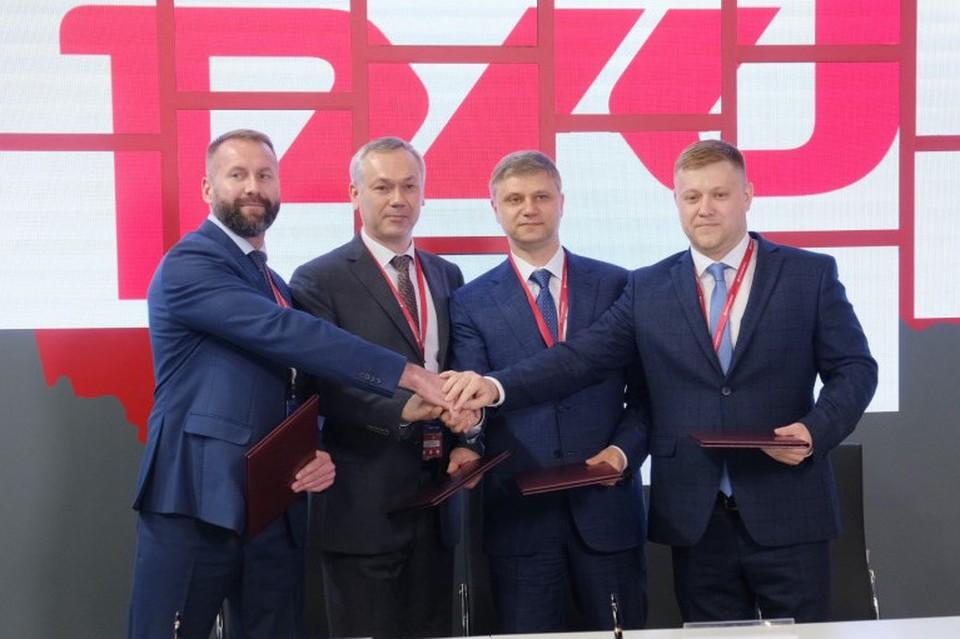Подписание соглашения о строительстве транспортно-логистического центра в Новосибирске.