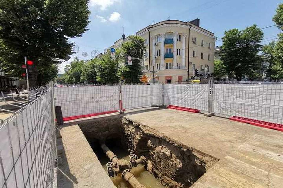 50324d3c9c5cd В Краснодаре на улице Красной начался второй этап замены устаревших сетей