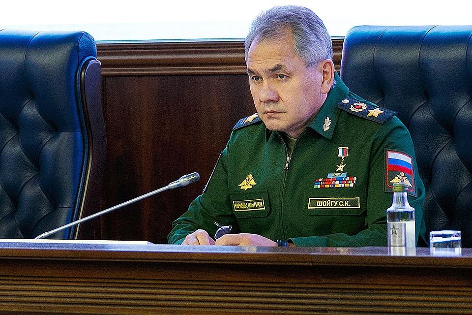 Глава Минобороны РФ Сергей Шойгу.