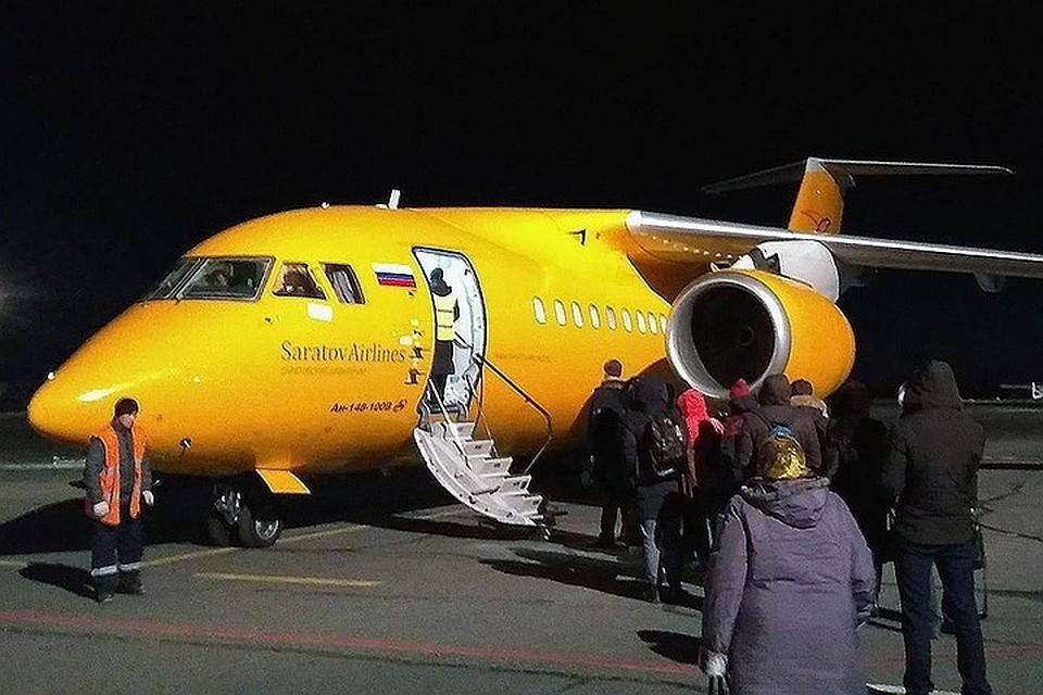"Разбившийся самолёт Ан-148 ""Саратовских авиалиний"" за неделю до трагедии. Фото предоставлено ""КП""."