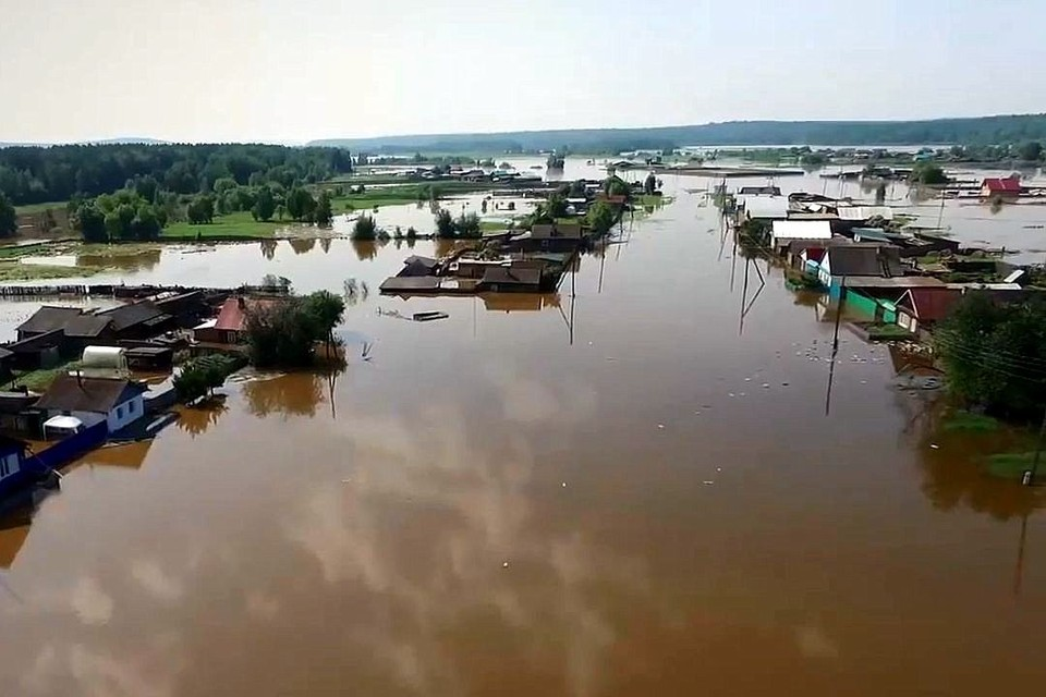 Масштаб бедствия... Фото: ГУ МЧС по Иркутской области.