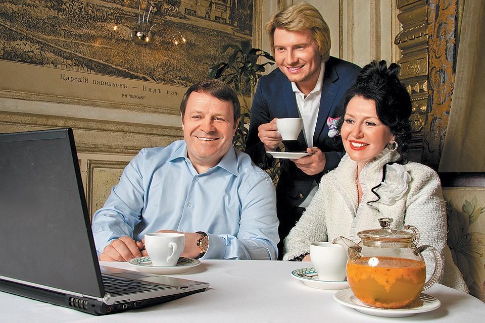 Певец Николай Басков с родителями.