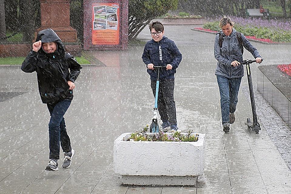 В столице ожидают ливень