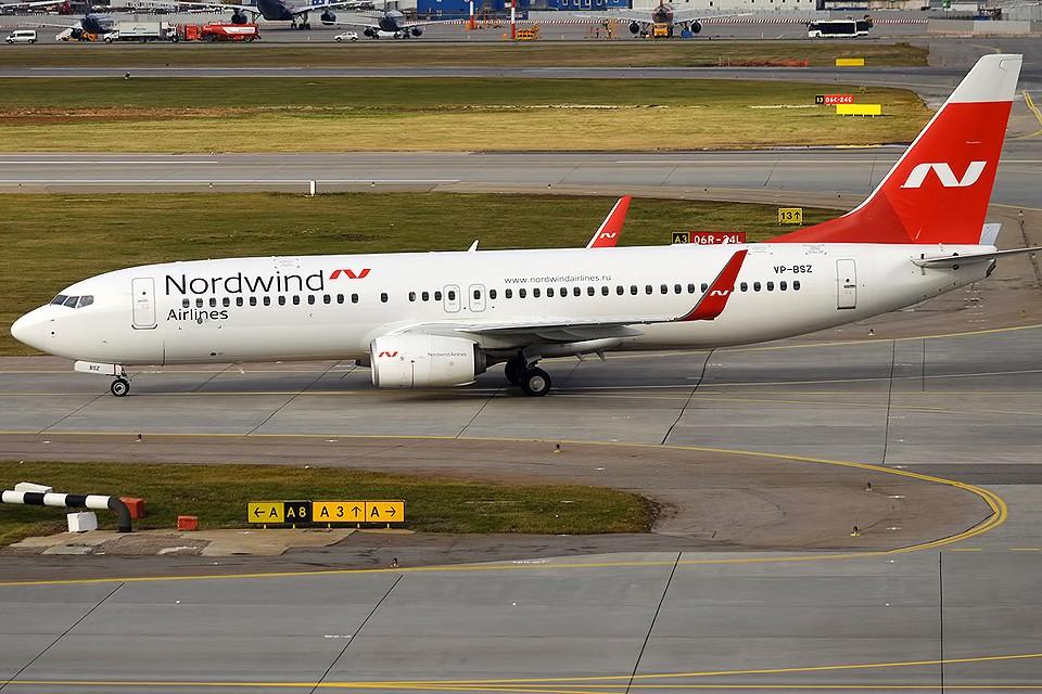 Самолет Боинг 737-800 авиакомпании Nordwind. Фото wikimedia.org/Anna Zvereva