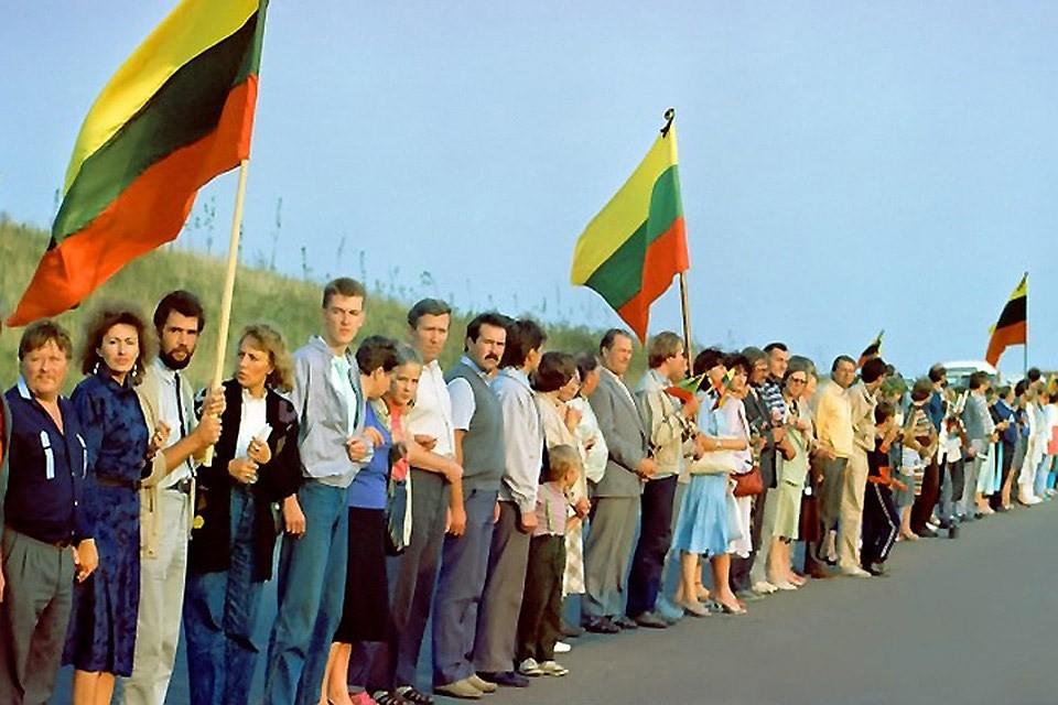 В годовщину «Балтийского пути» около 10 тысяч литовцев создадут живую цепь. Фото: с сайта belvpo.com