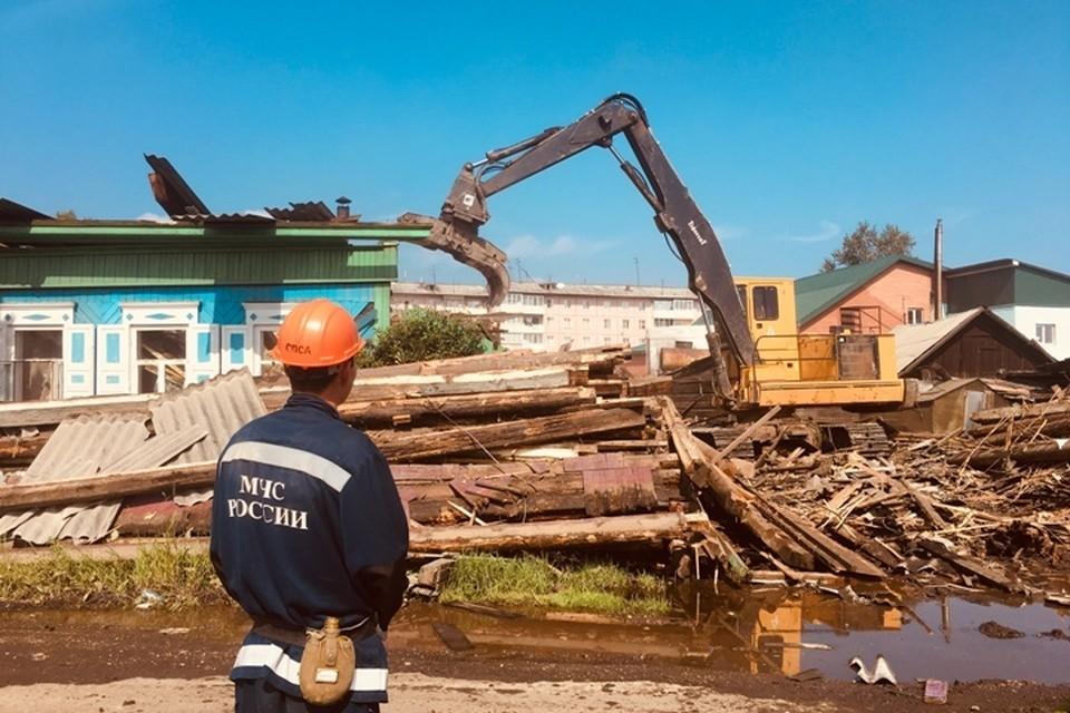 Паводки в Иркутской области: подтопленными остаются 230 домов. Фото: пресс-служба ГУ МЧС по Иркутской области