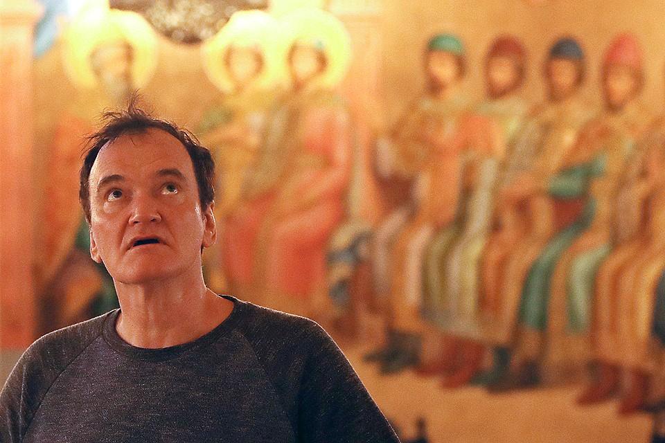 Квентин Тарантино во время осмотра музеев Московского Кремля. Фото Валерий Шарифулин/ТАСС