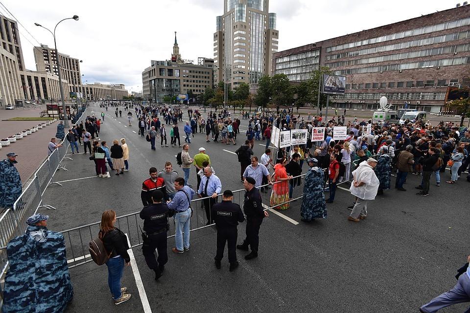 По официальным данным, после этого количество участников митинга-акции превысило 7 тысяч человек