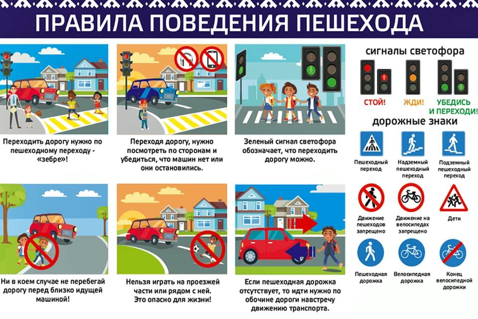 Все школьные кабинеты первоклассников украсят плакатами «Обязанности пешехода» Фото: yanao.ru