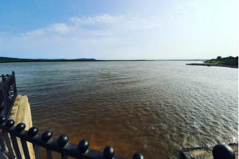 Уровень Амура в Комсомольске 21 августа 2019: утром вода была на отметке в 553 сантиметра