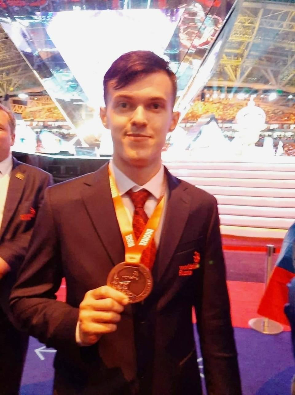 Орловский студент Даниил Шмыдов завоевал «бронзу» Чемпионата мира Worldskills. Фото: Правительство Орловской области