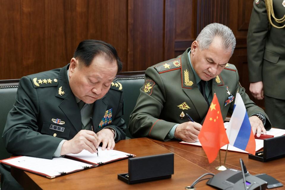 Сергей Шойгу и Чжан Юся решили подписать пакет документов, определяющих направления совместной работы в военной и военно-технической сферах.