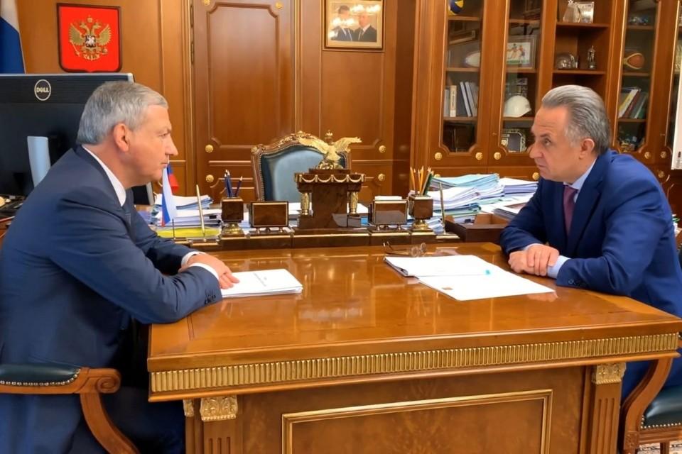 Вячеслав Битаров и Виталий Мутко. Фото: пресс-служба главы РСО-Алания