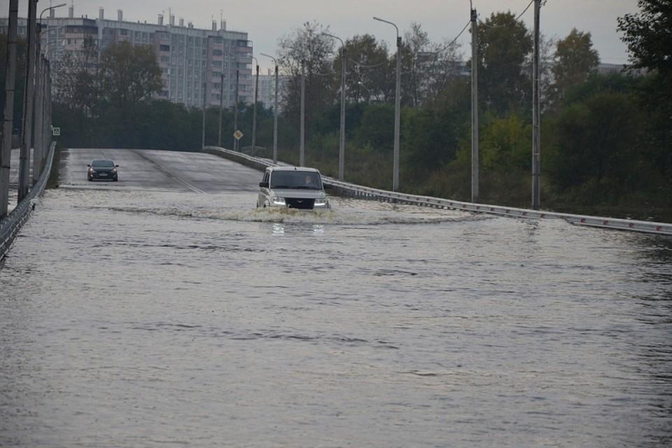 У Комсомольска-на-Амуре уровень воды превысил отметку в восемь метров