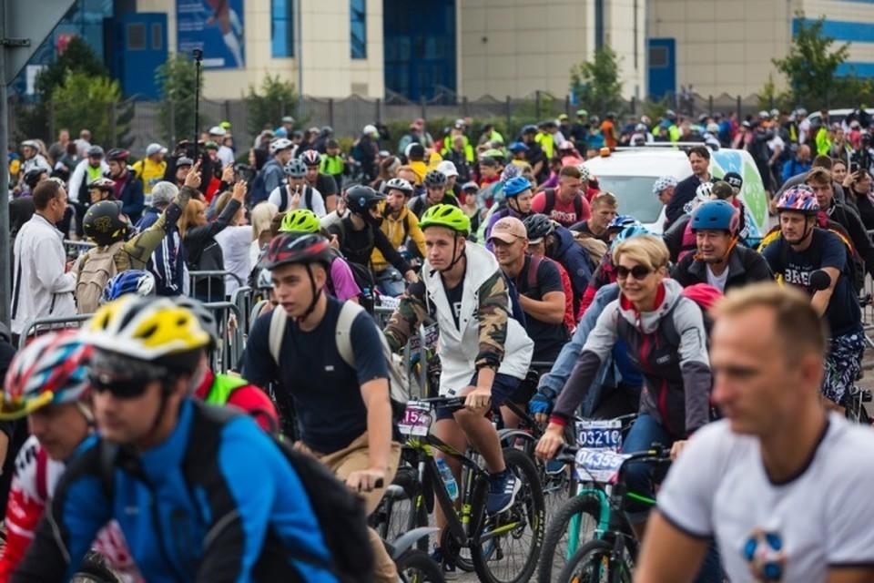 """В этом году """"Тур де Кранц"""" стартовал на Сельме."""