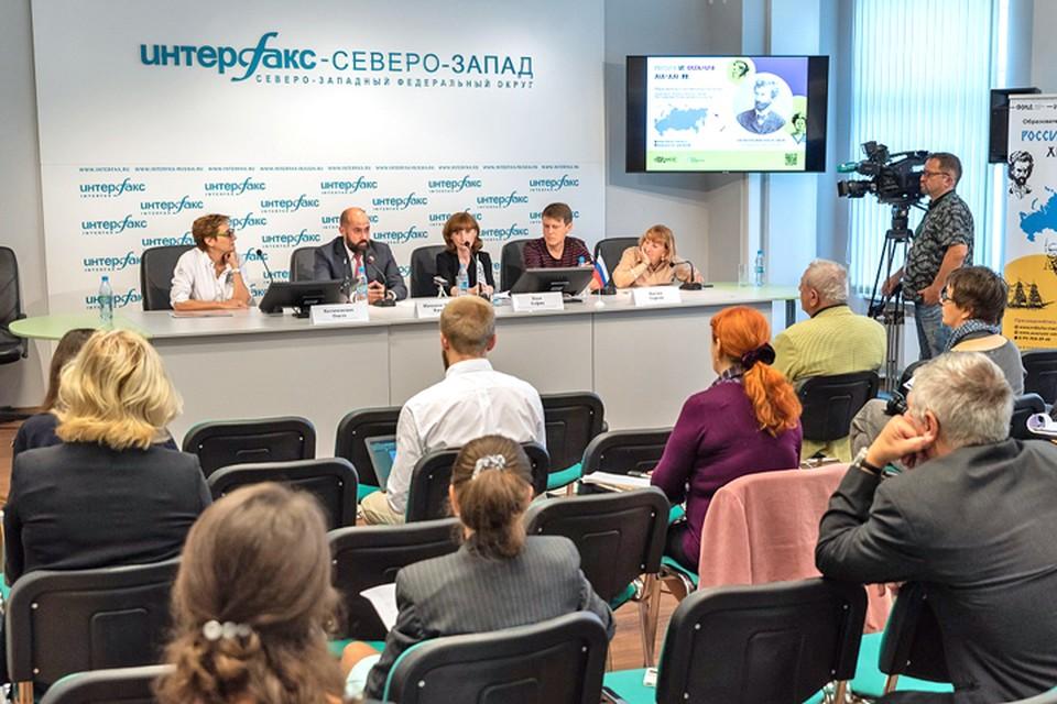В Санкт-Петербурге состоялась пресс-конференция Фонда им. Миклухо-Маклая. Фото предоставлено Фондом им. Миклухо-Маклая.