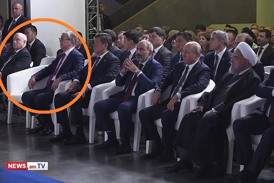 Лукашенко в Ереване два раза опоздал и улетел домой досрочно. Кадр портала news.am.