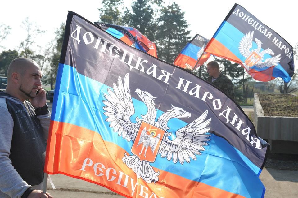 Флаги ДНР у Саур-Могилы, 2015 год.