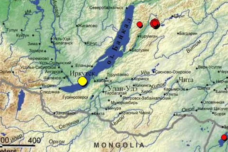 Землетрясение силой в 4 балла произошло 10 октября в Иркутске